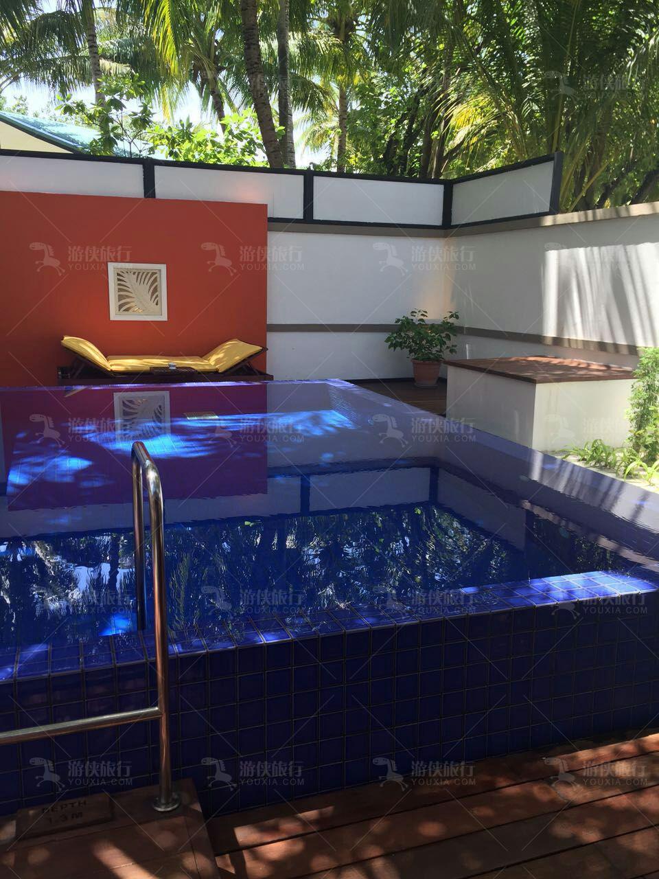海滩泳池别墅有私人泳池
