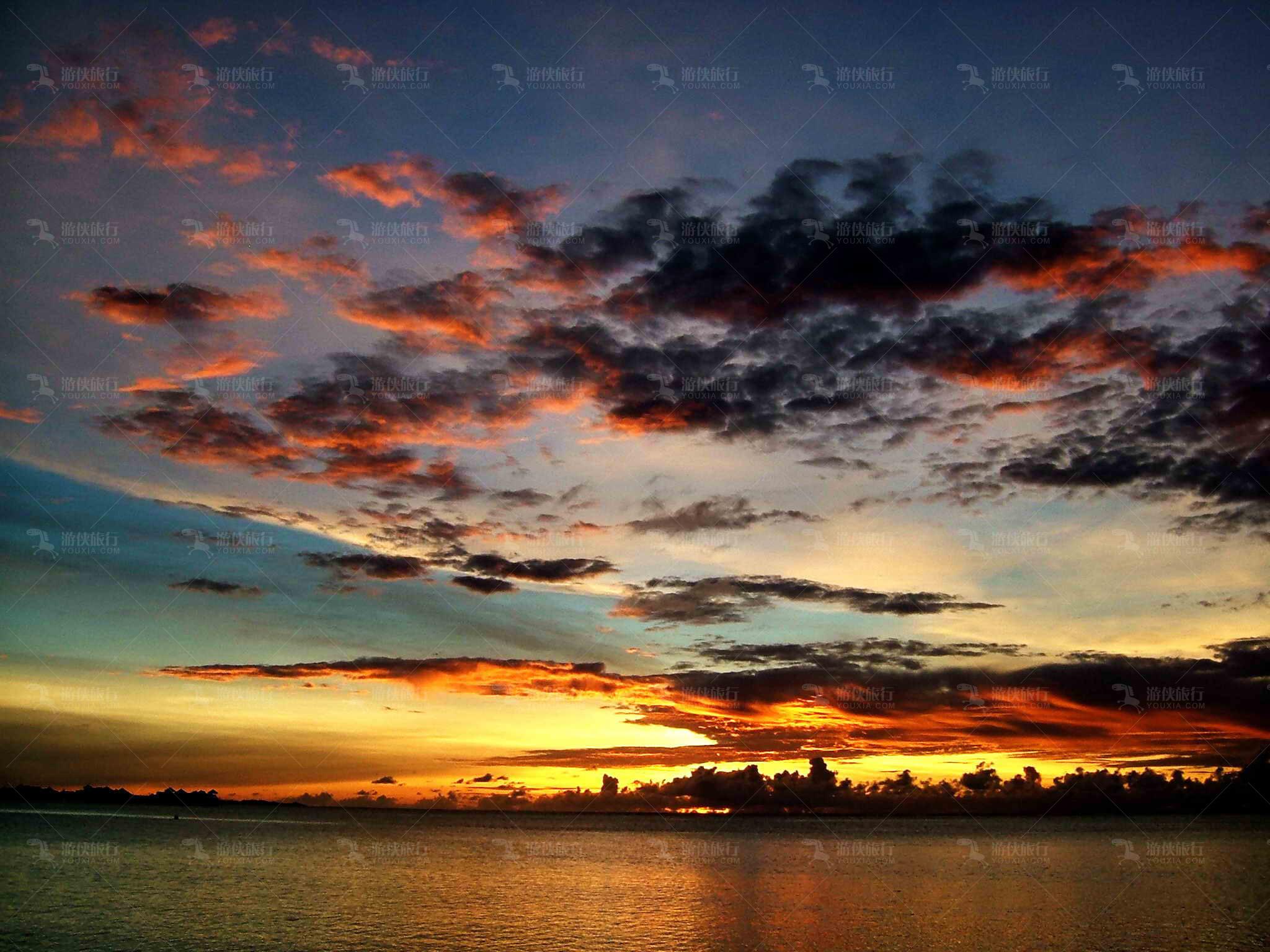 蔚为壮观黄昏日落