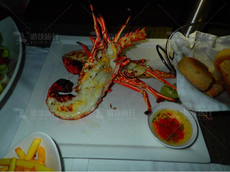 新鲜的大龙虾