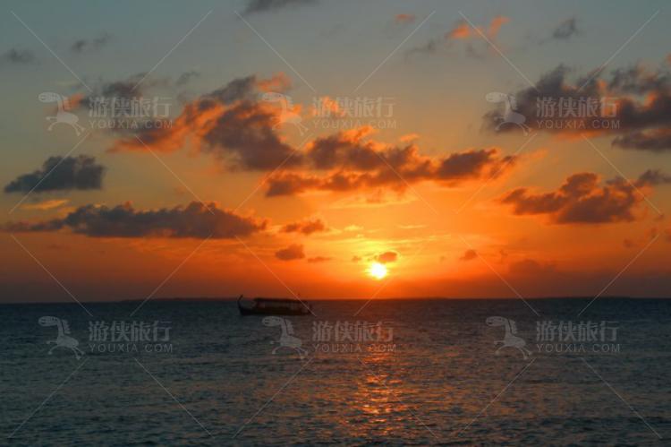 出海的夕阳