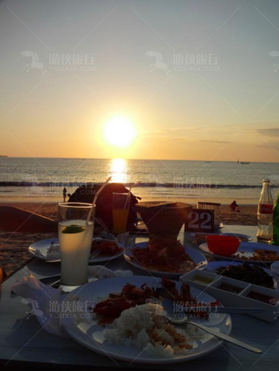 巴厘岛的夕阳