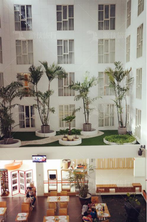 酒店内部的空中花园