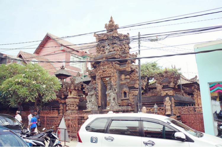 特色的建筑在巴厘岛