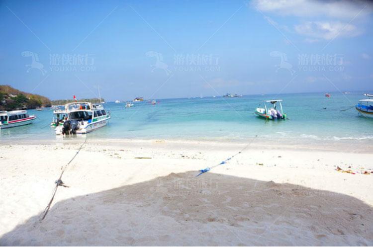 碧水蓝天,阳光沙滩
