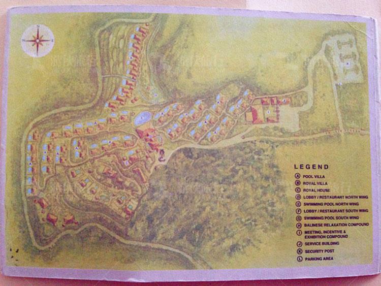 乌布皇家酒店的地图