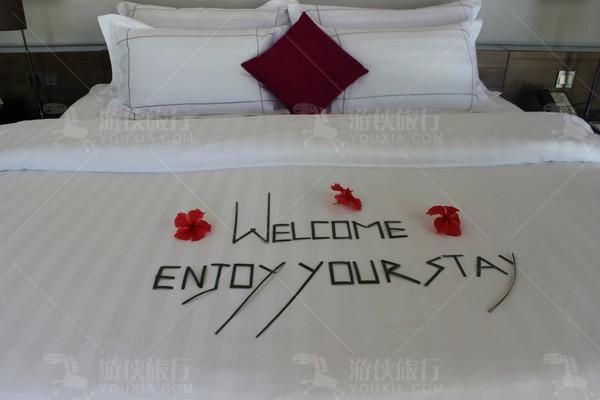 浪漫花床布置