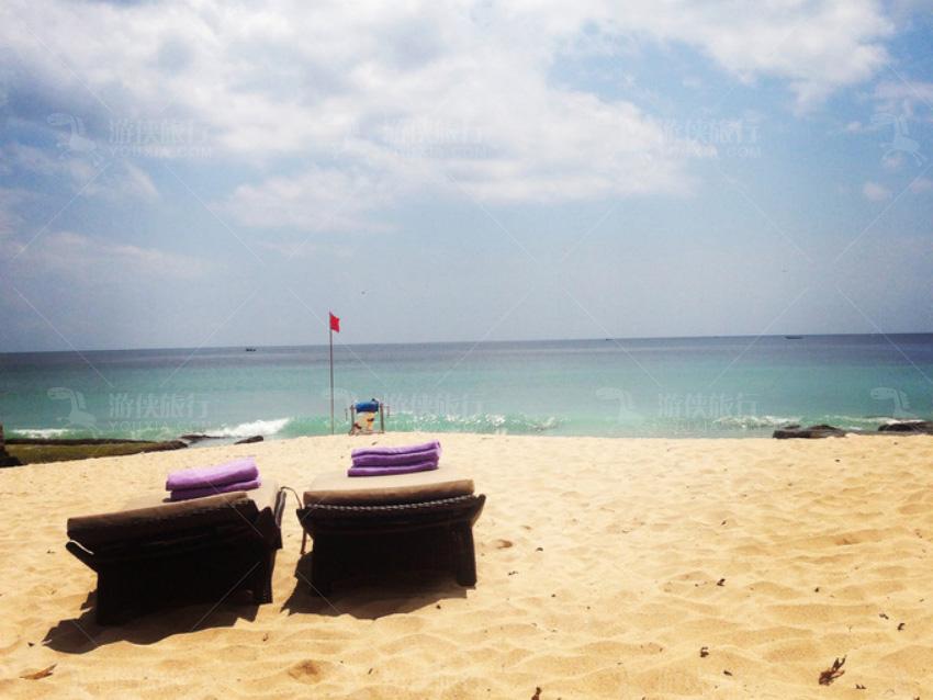 海滩只对酒店住客开放