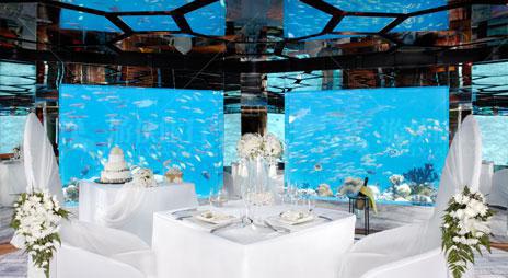 Anantara水下餐厅婚礼