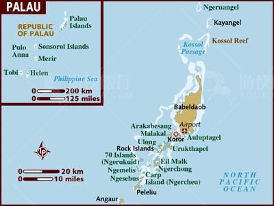 帕劳的地理位置