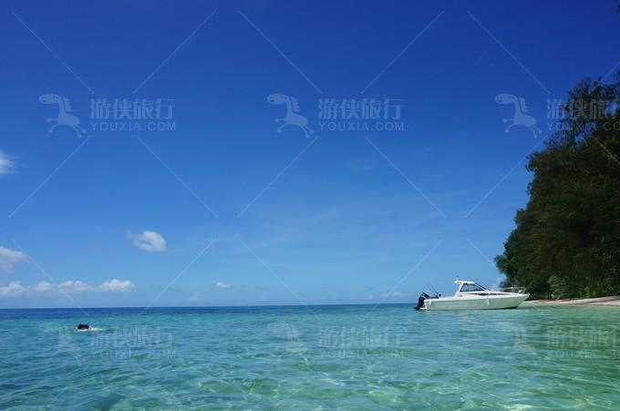 小岛的风景