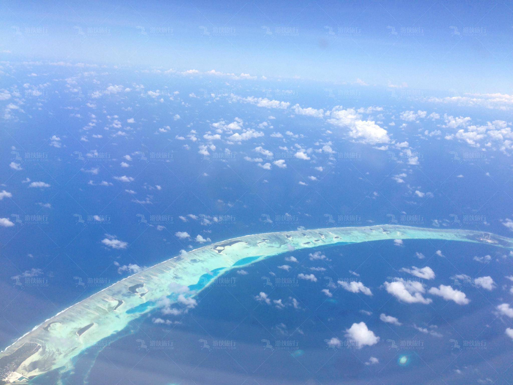 航拍下的马尔代夫