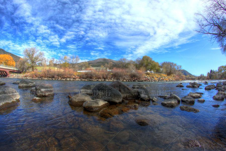 美国科罗拉多州格伦伍德温泉