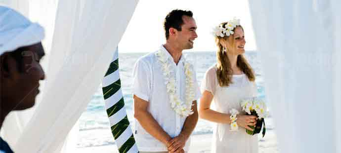 日落海滩婚礼