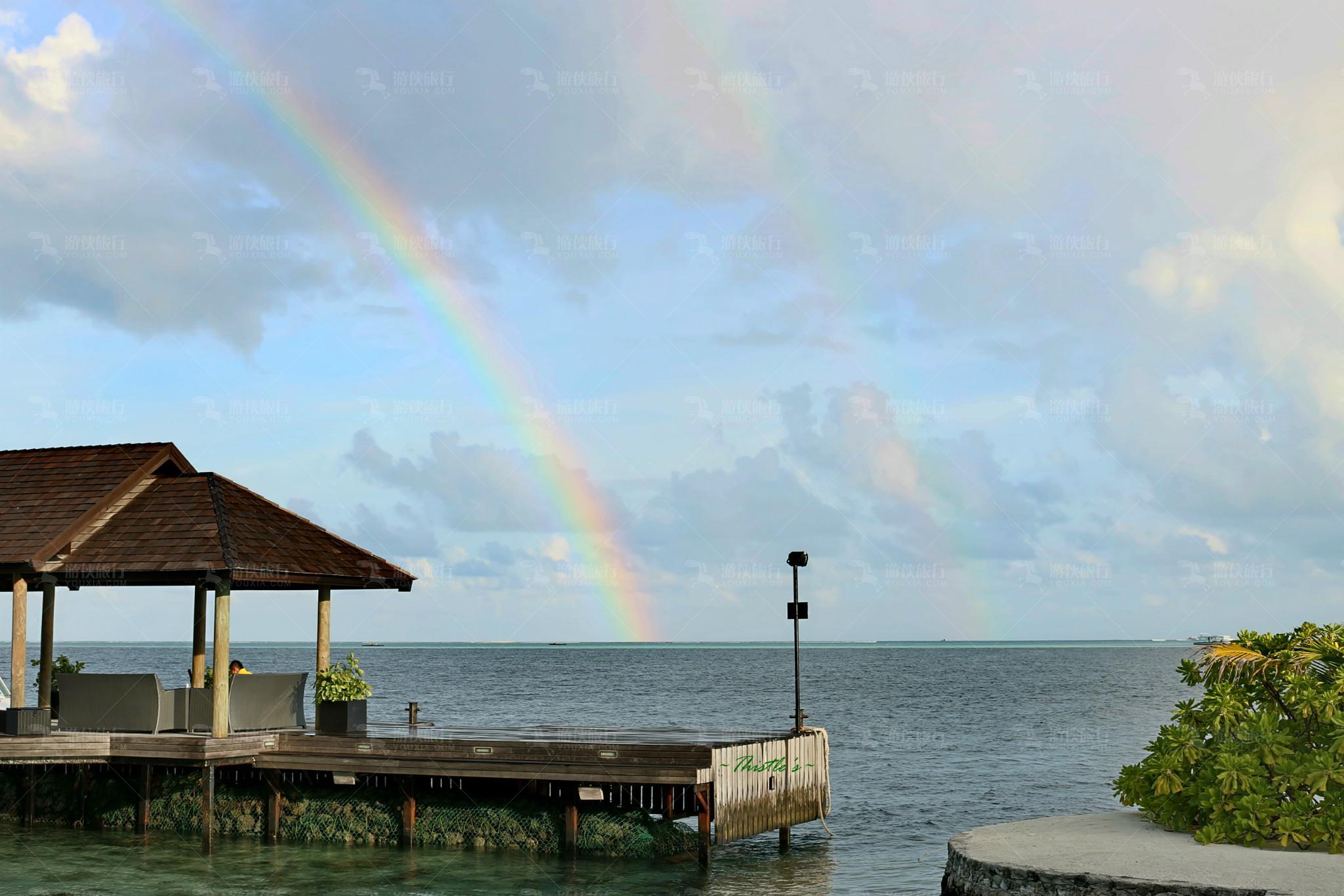 海上双彩虹