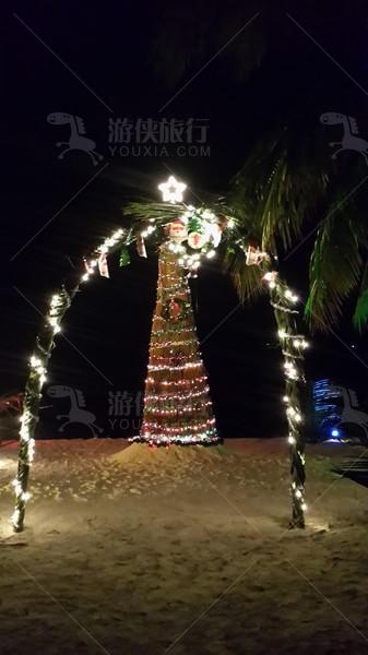 马代酒店圣诞装扮