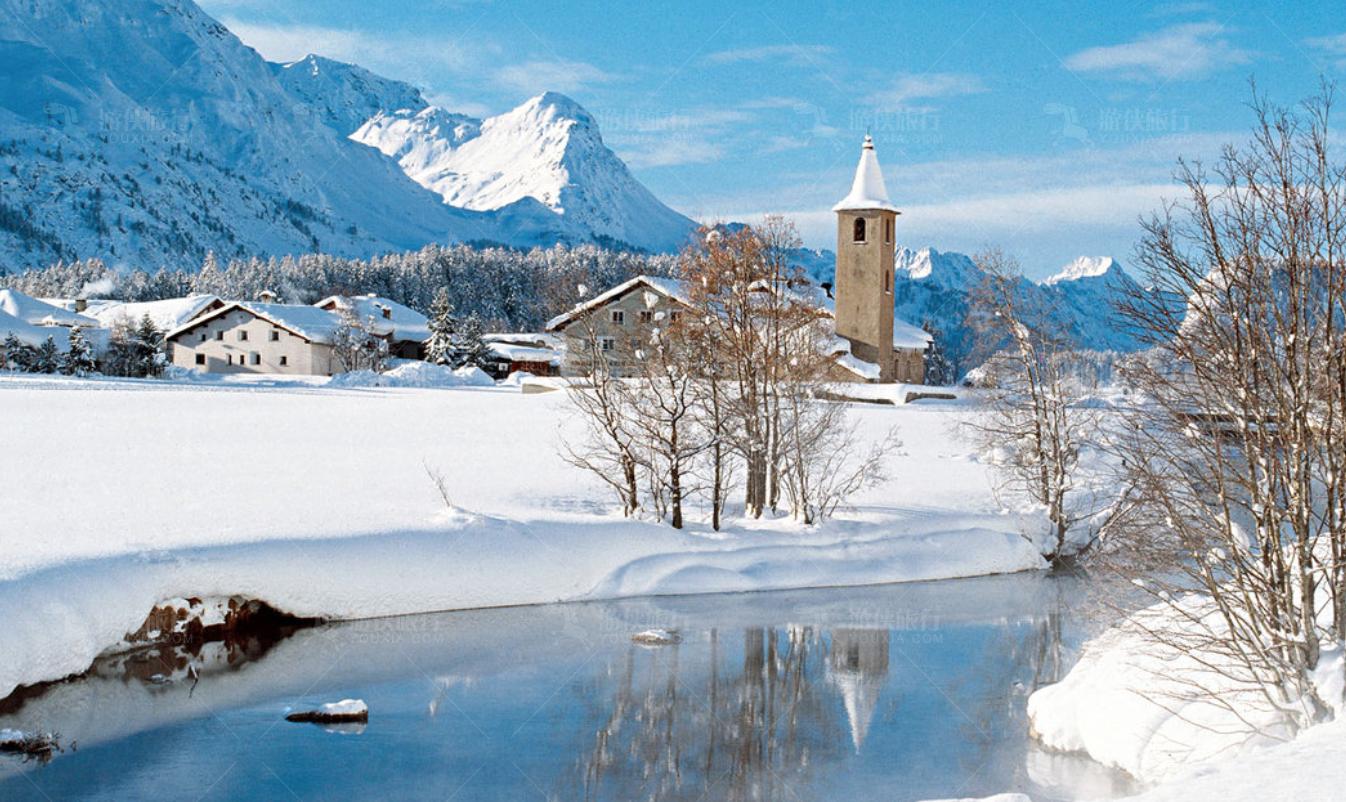 滑雪天堂瑞士圣莫里茨
