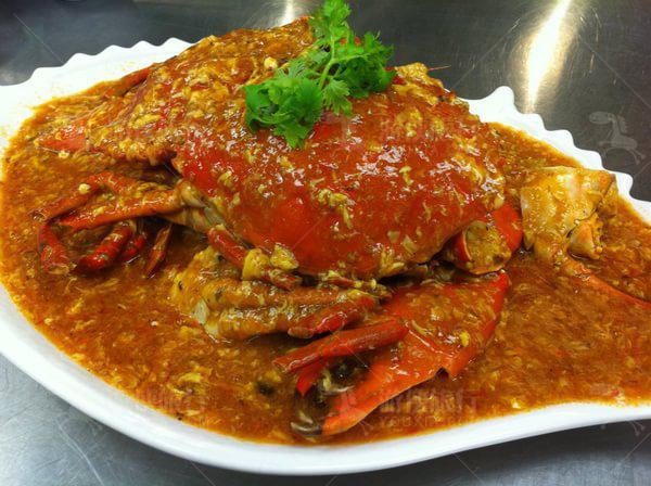 辣椒酱汁蟹