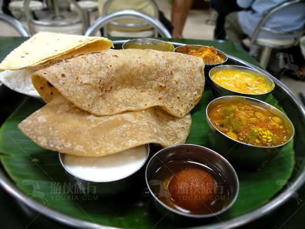 机场里的印度美食
