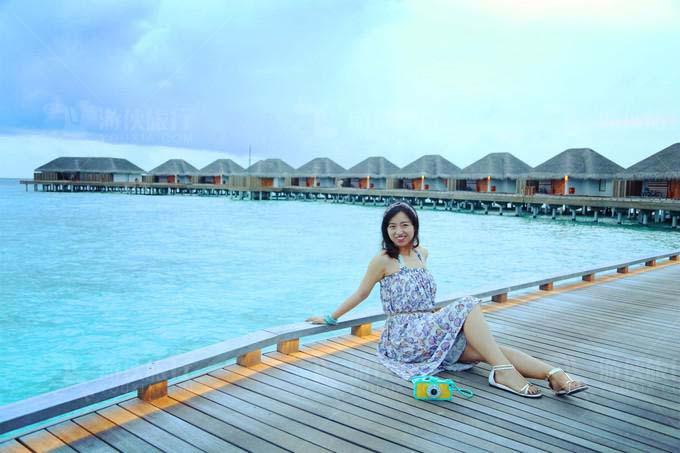马尔代夫最大的无边泳池