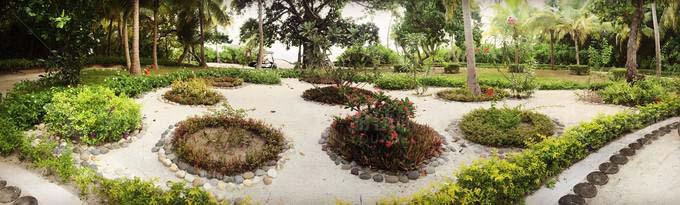 接待大厅前的小花园