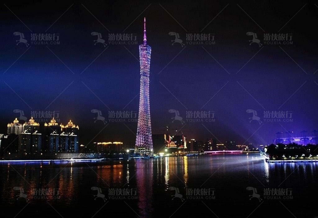 广州塔缤纷灯光