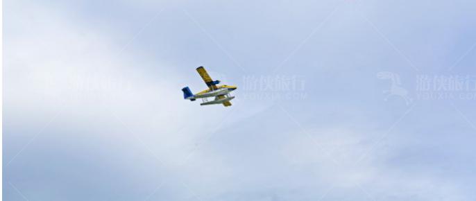 马尔代夫特有的空中飞机