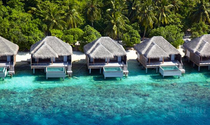 马尔代夫最浪漫的房间就是水屋