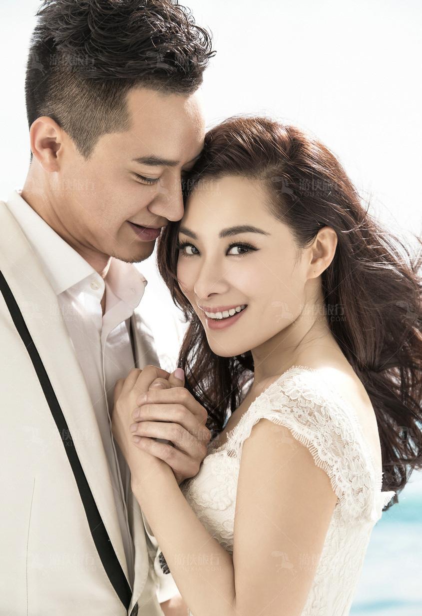刘璇在毛里求斯婚纱照