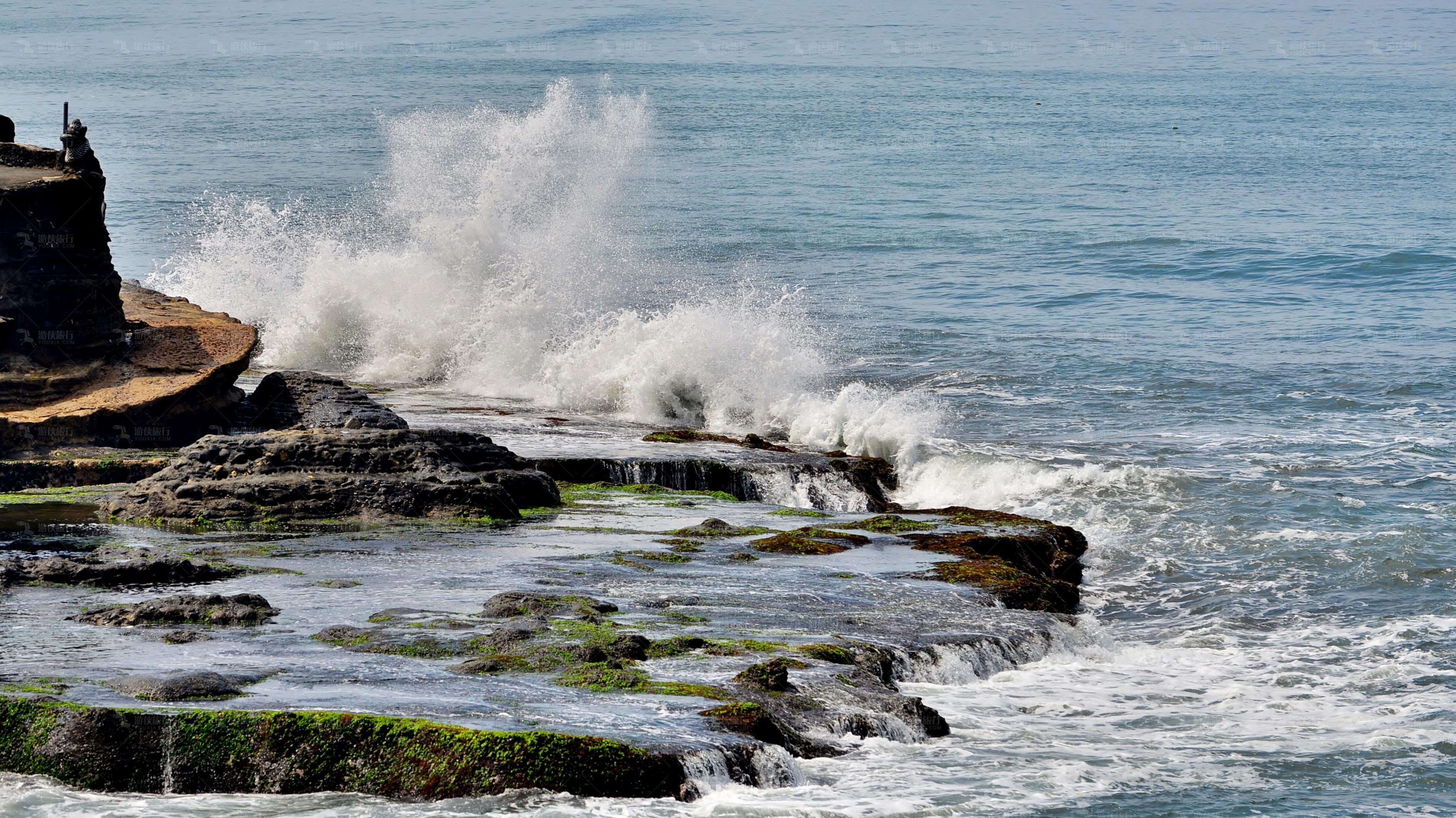 海神庙潮起潮落