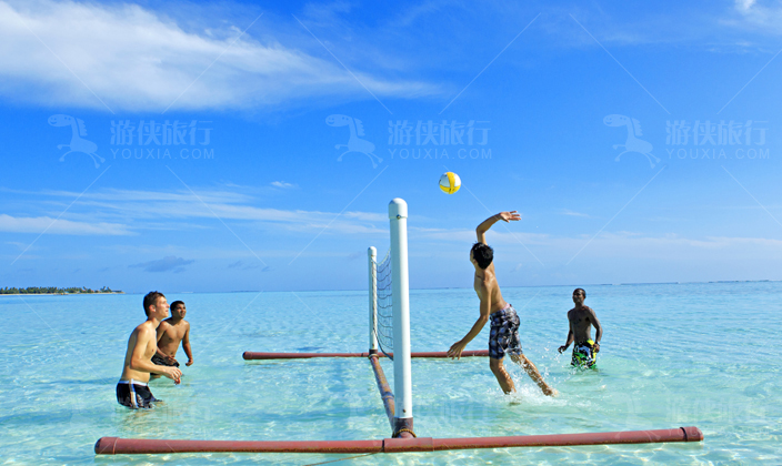 悦椿庄马尔代夫水上排球