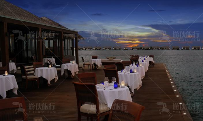 马尔代夫瑞喜敦岛餐厅