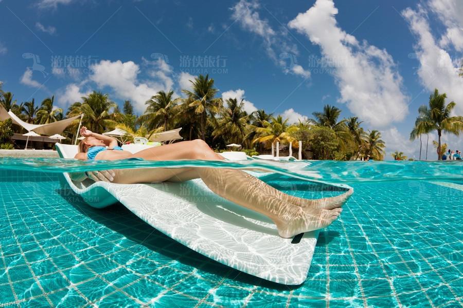 享受马尔代夫阳光