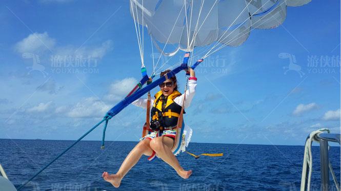 马尔代夫宁静岛水上活动