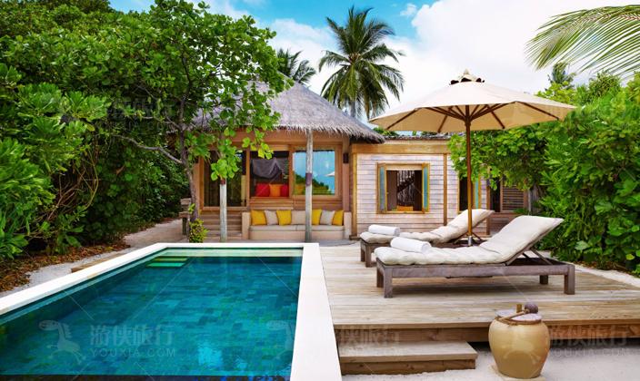 马尔代夫拉姆泳池家庭别墅