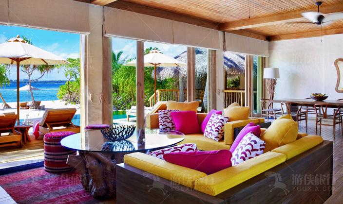 马尔代夫拉姆双卧室海洋别墅