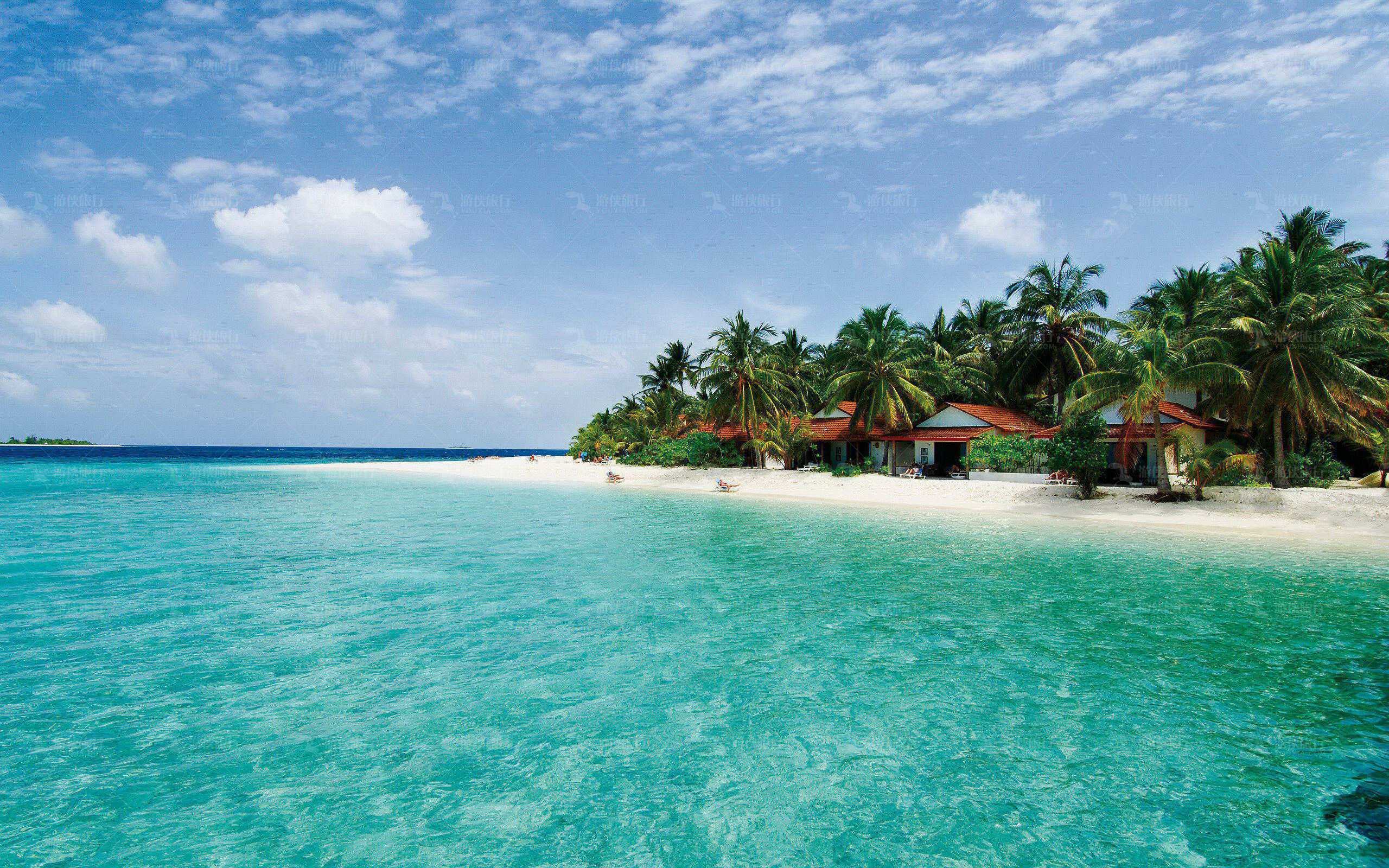马尔代夫晶莹剔透海水
