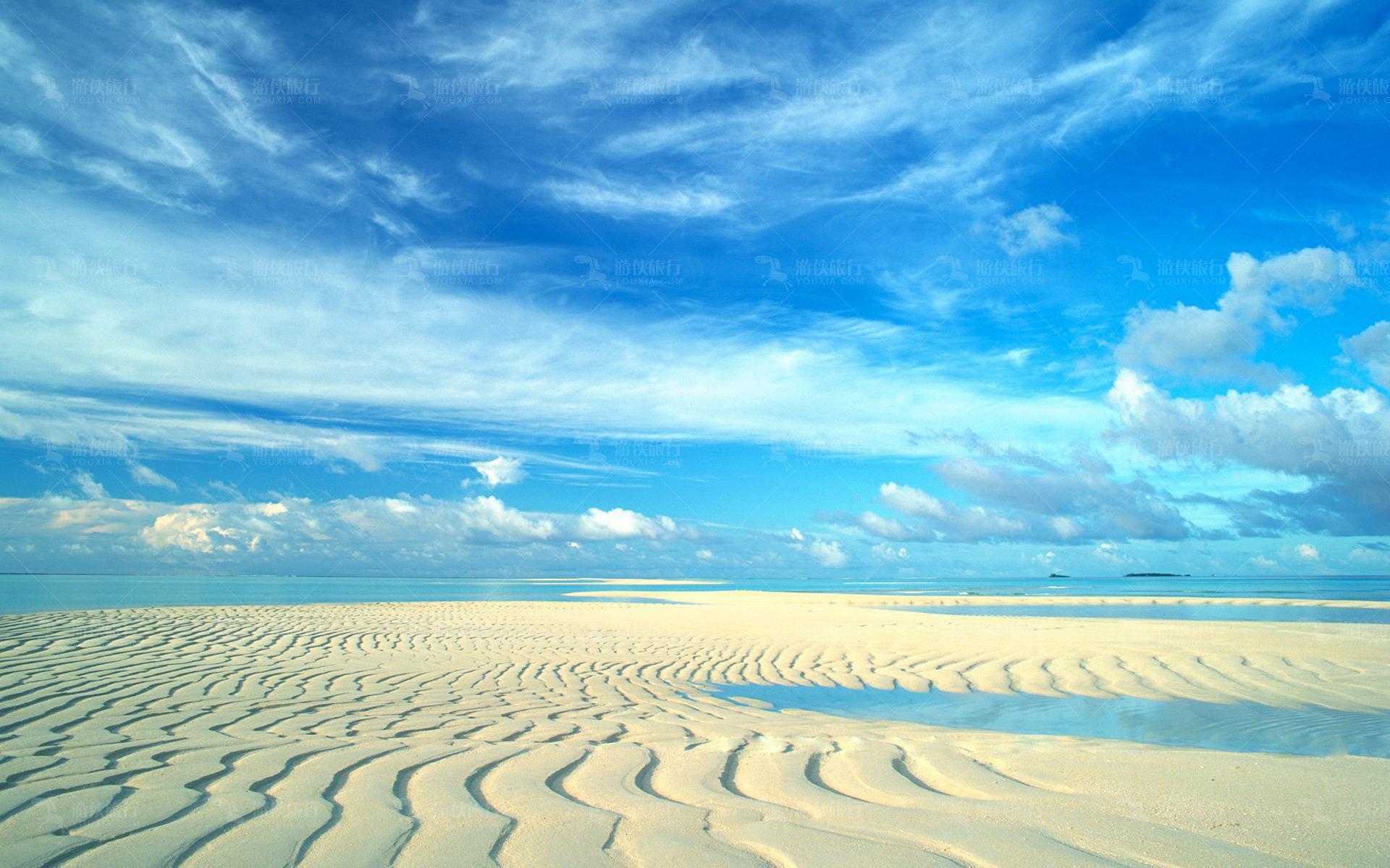 马代无污染沙滩