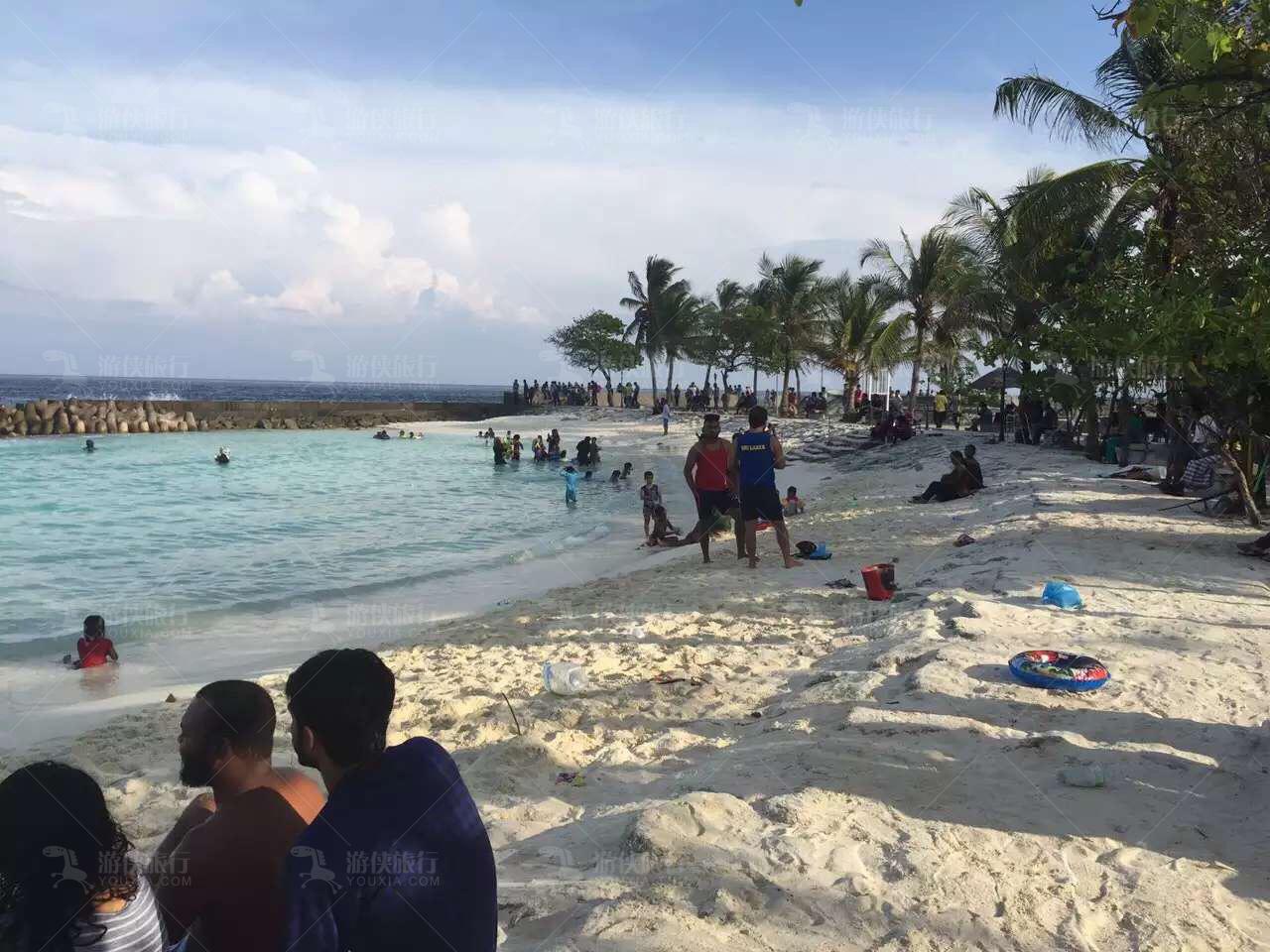马累Artificial Beach看海