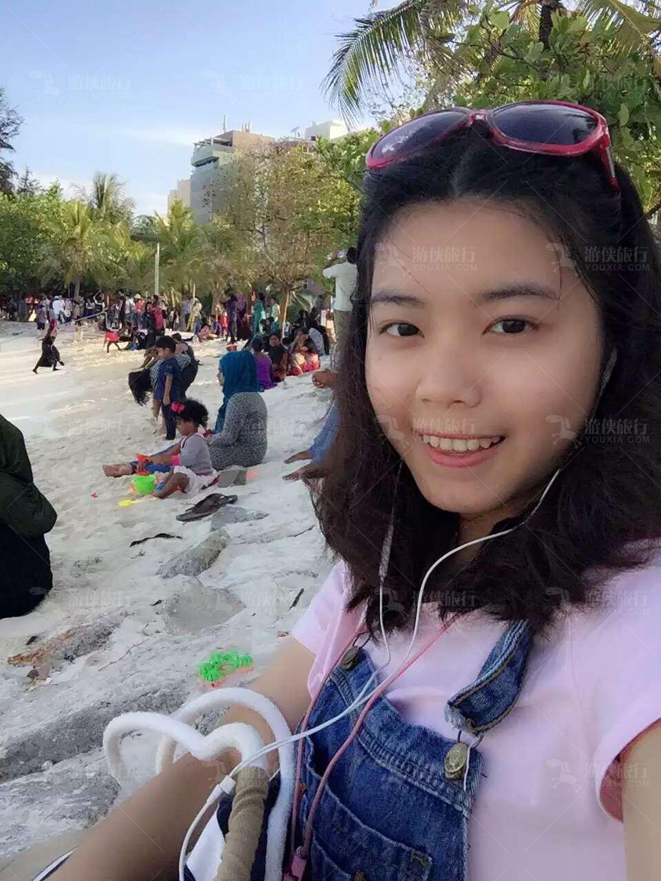 容妹子在马累·Artificial Beach