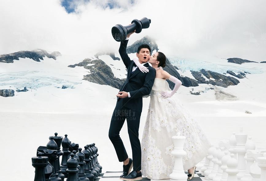 库克山国家公园婚纱