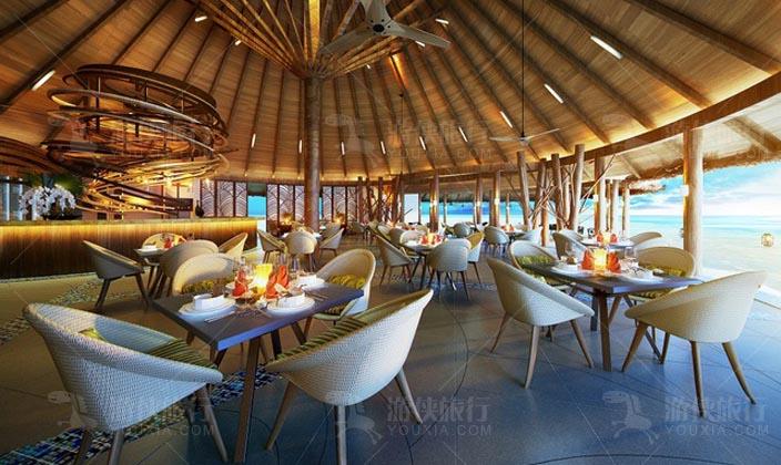 奥臻岛棕榈树主餐厅