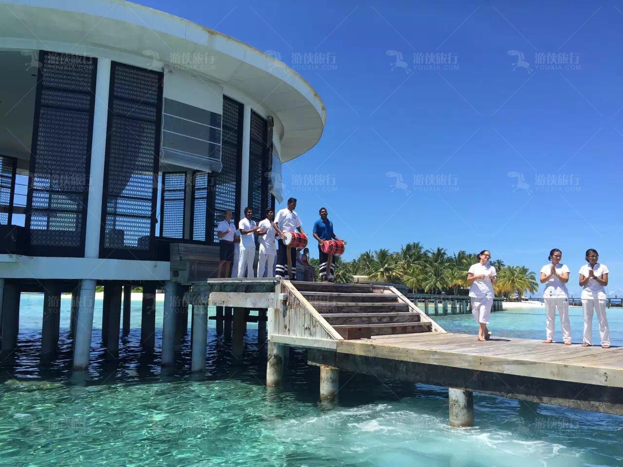 马代JD岛欢迎仪式