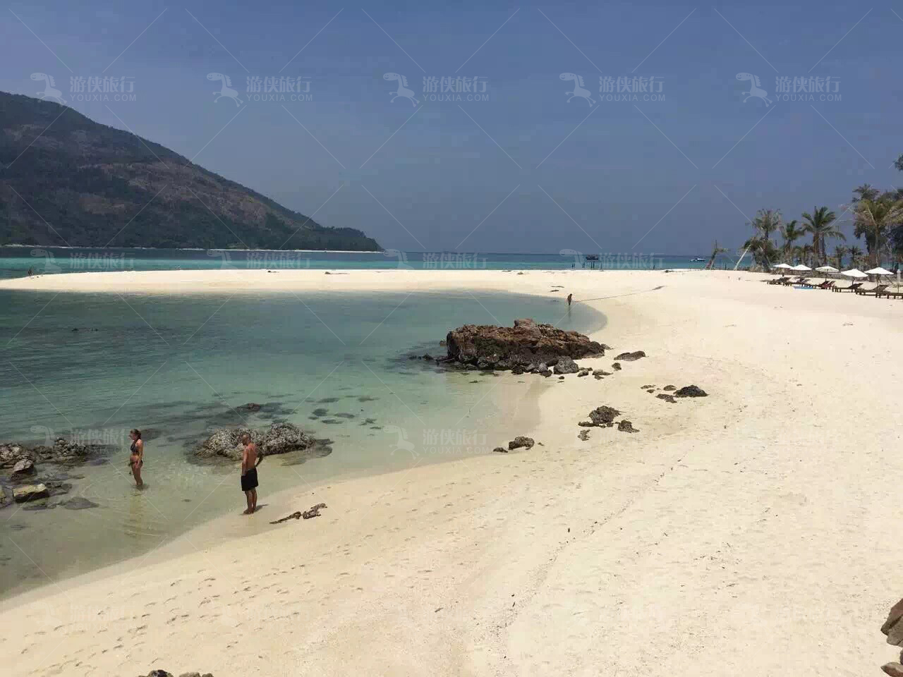 丽贝岛长拖尾沙滩