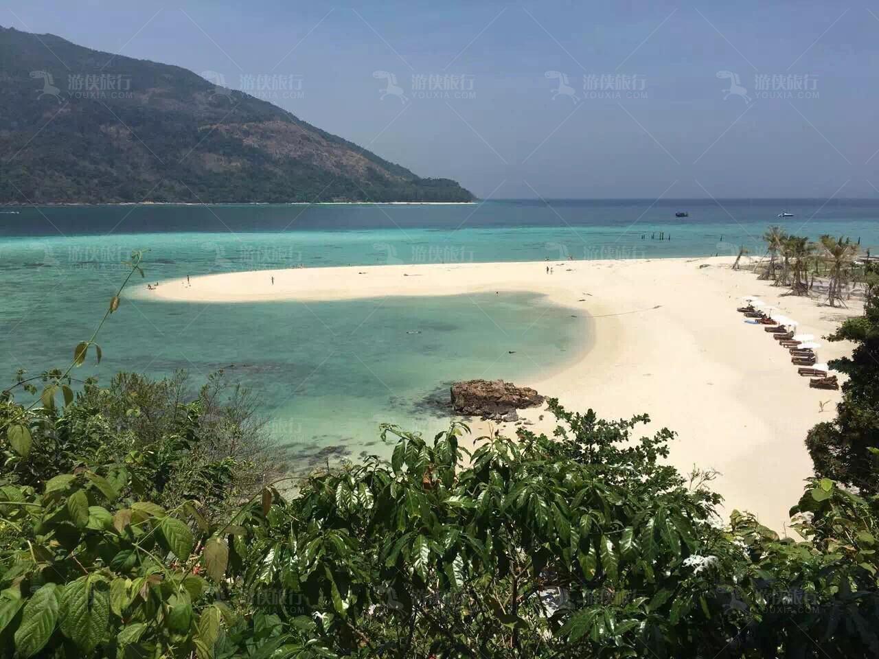 丽贝岛魅力拖尾沙滩
