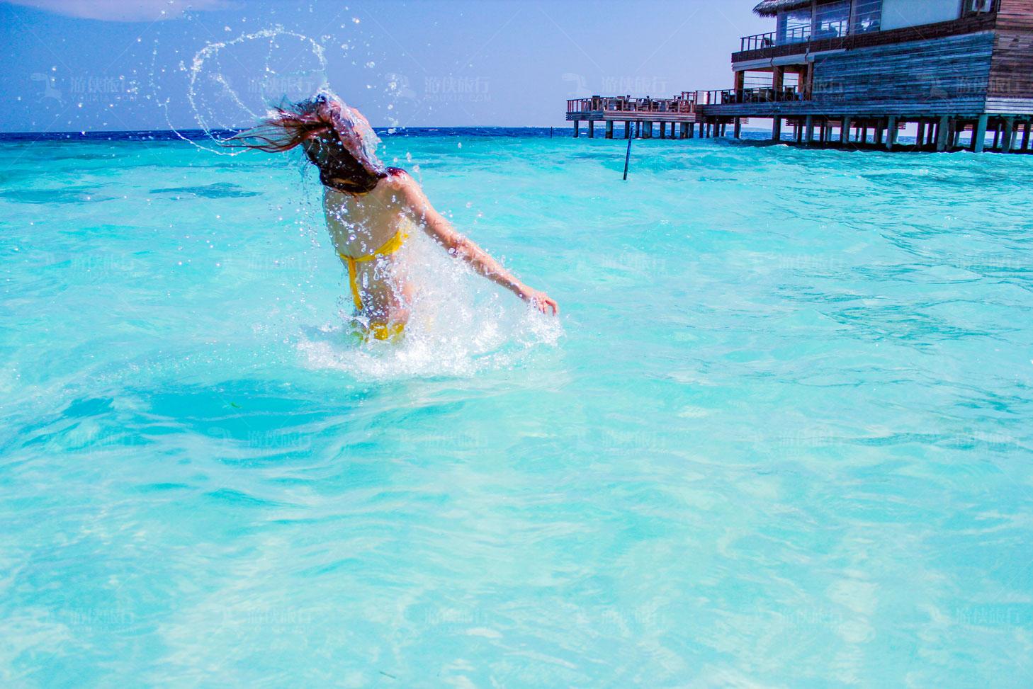 马尔代夫最大无边泳池