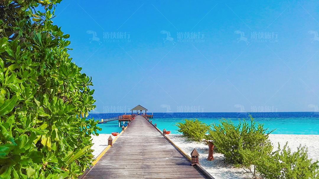 马尔代夫蜜都帕茹岛白沙滩