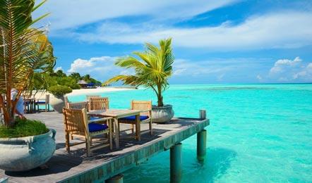 马尔代夫 双鱼岛(欧芙菲莉岛) Olhuveli Beach & Spa Resort6天4晚自由行(冲浪的绝佳之地、快艇上岛、含早晚餐HB、中文服务、A级沙滩)